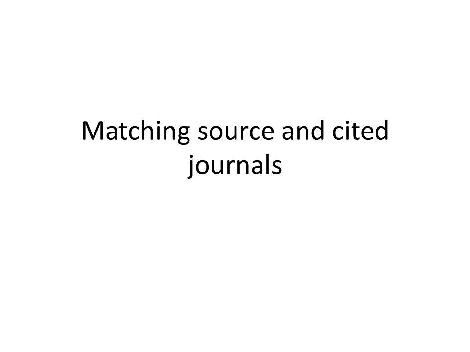 Matching source and cited journals