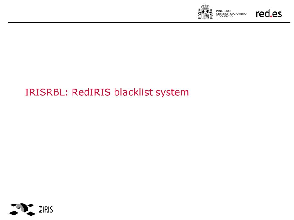 White List format & usage: Two white list zones defined: ESWL: outgoing SMTP server of Abuses members.