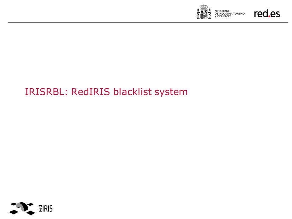 IRISRBL: RedIRIS blacklist system