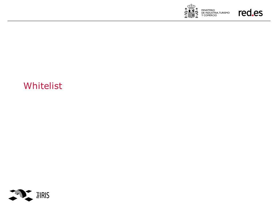White List 2004/2005.Lot of black listing problems between Universities & ISP in Spain.
