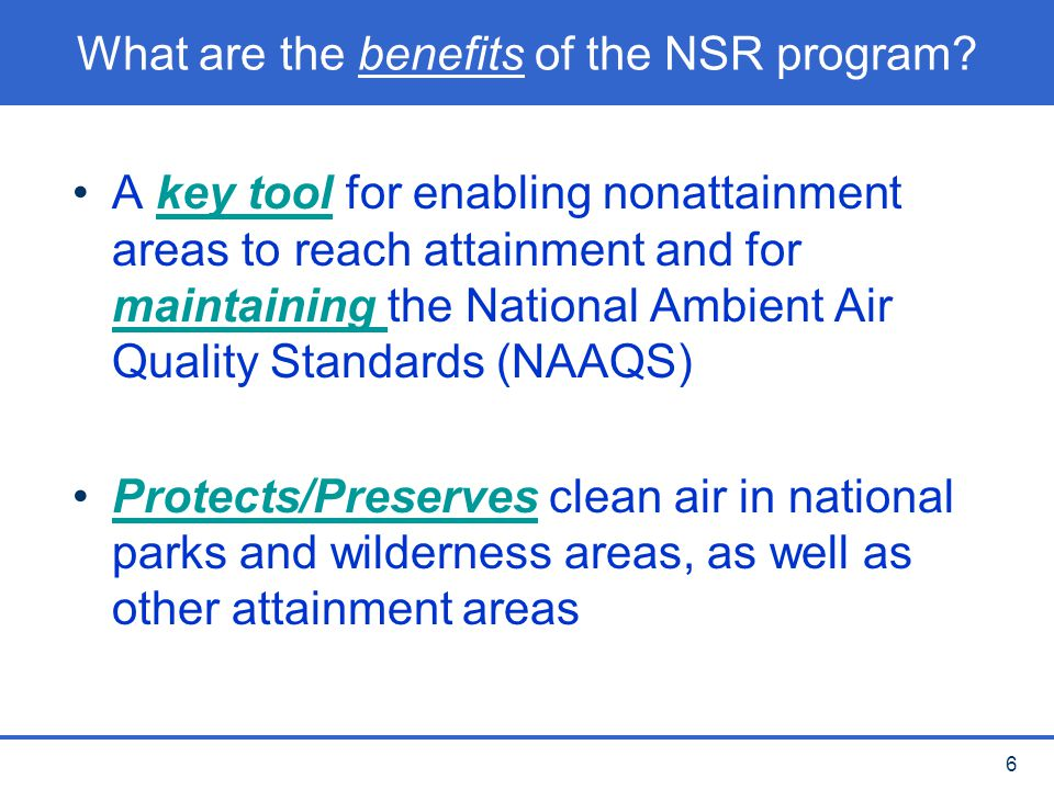 17 NA NSR permits Main requirements: Require installation of Lowest Achievable Emission Rate (LAER) Emission Offsets Opportunity for Public Involvement