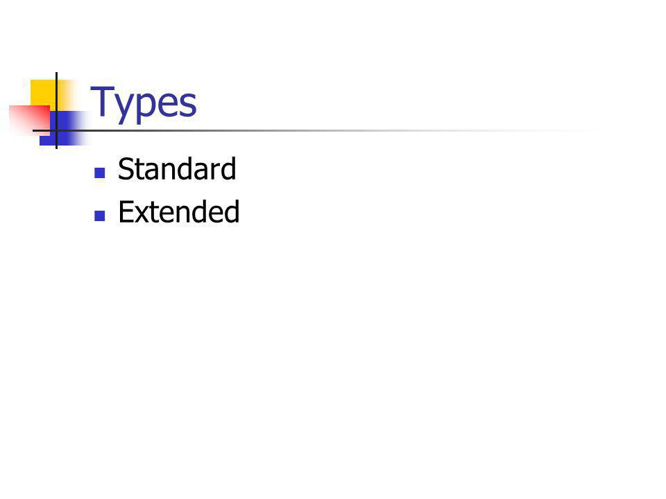 Types Standard Extended