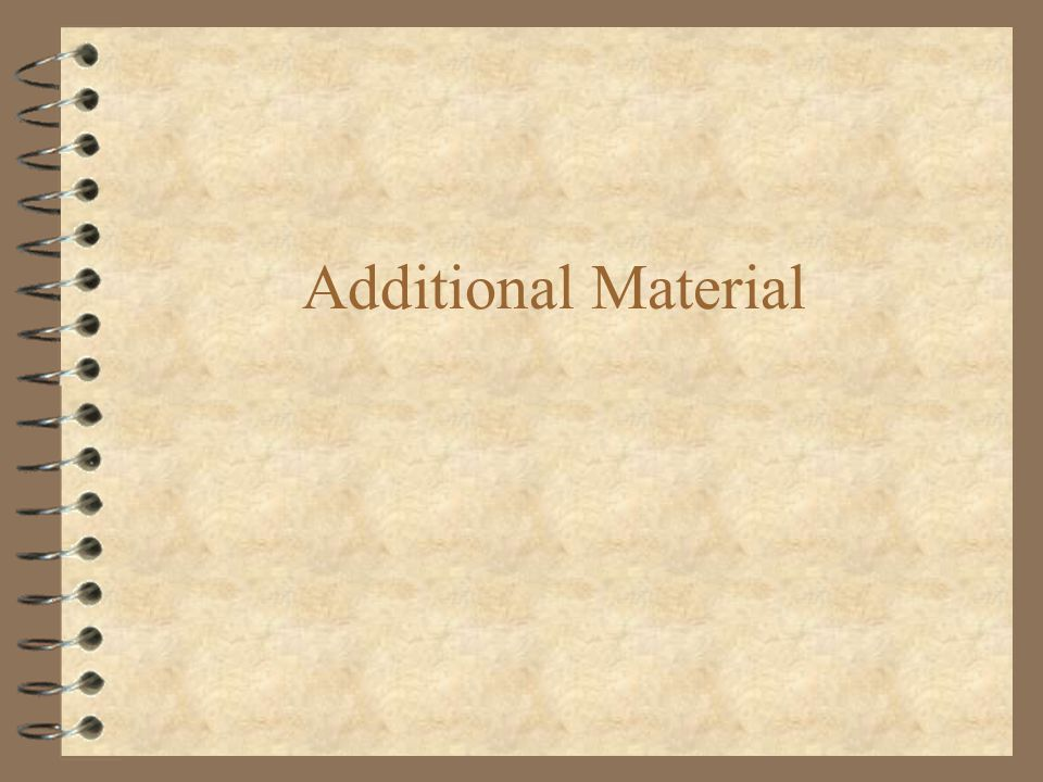 Additional Material