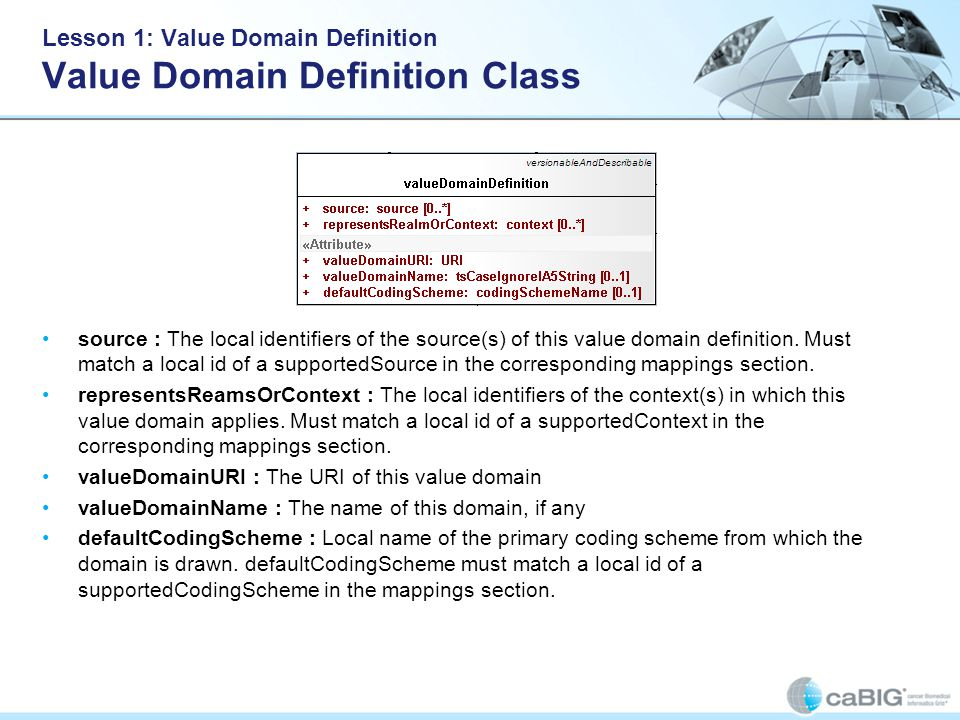Lesson 1: Value Domain Definition Answer 1 To complete the Value Domain Definition stated below to get only the leaf concepts (i.e codes : Jaguar, Chevy and 73) of Domestic Auto Maker using just one definitionEntry : What should be the start entityCode .