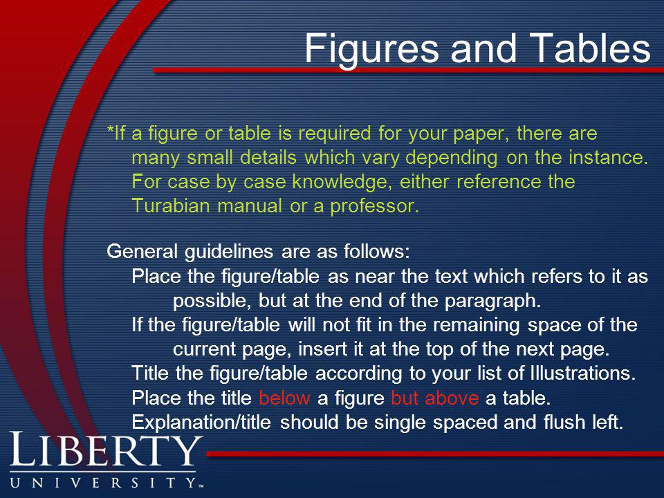 Figures and Tables *If a figure or table is required for your paper, there are many small details which vary depending on the instance.
