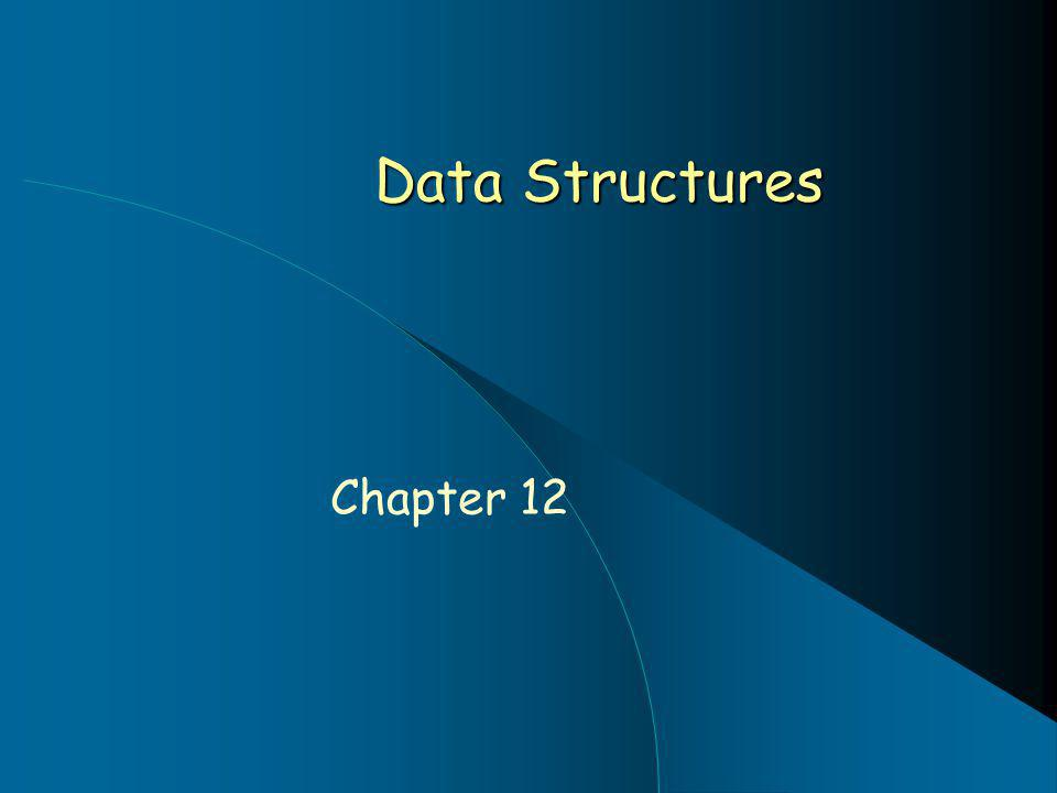 Data Structures Chapter 12