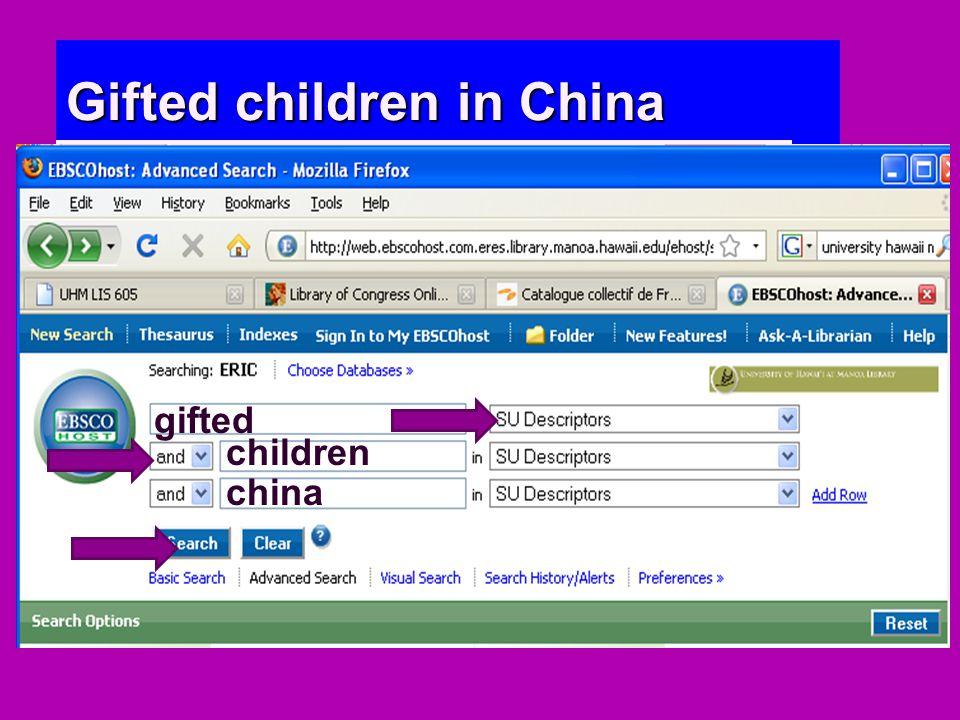 gifted children china