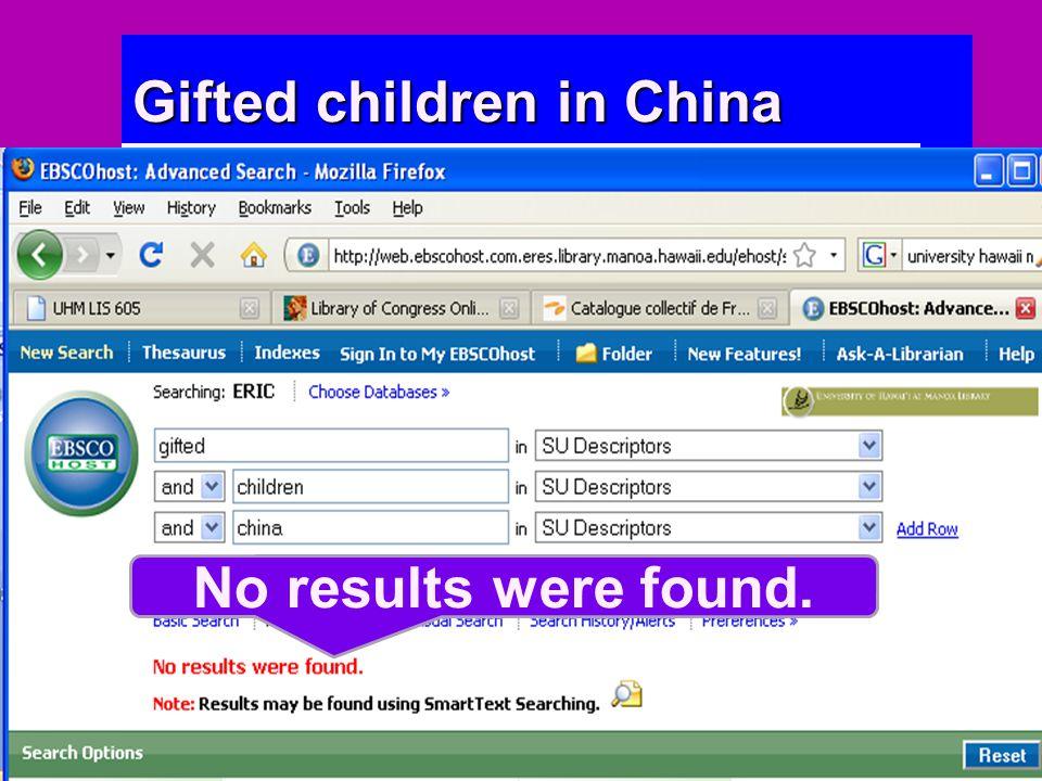 No results were found.