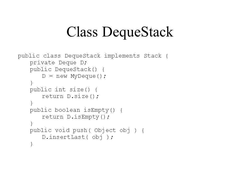 Class DequeStack