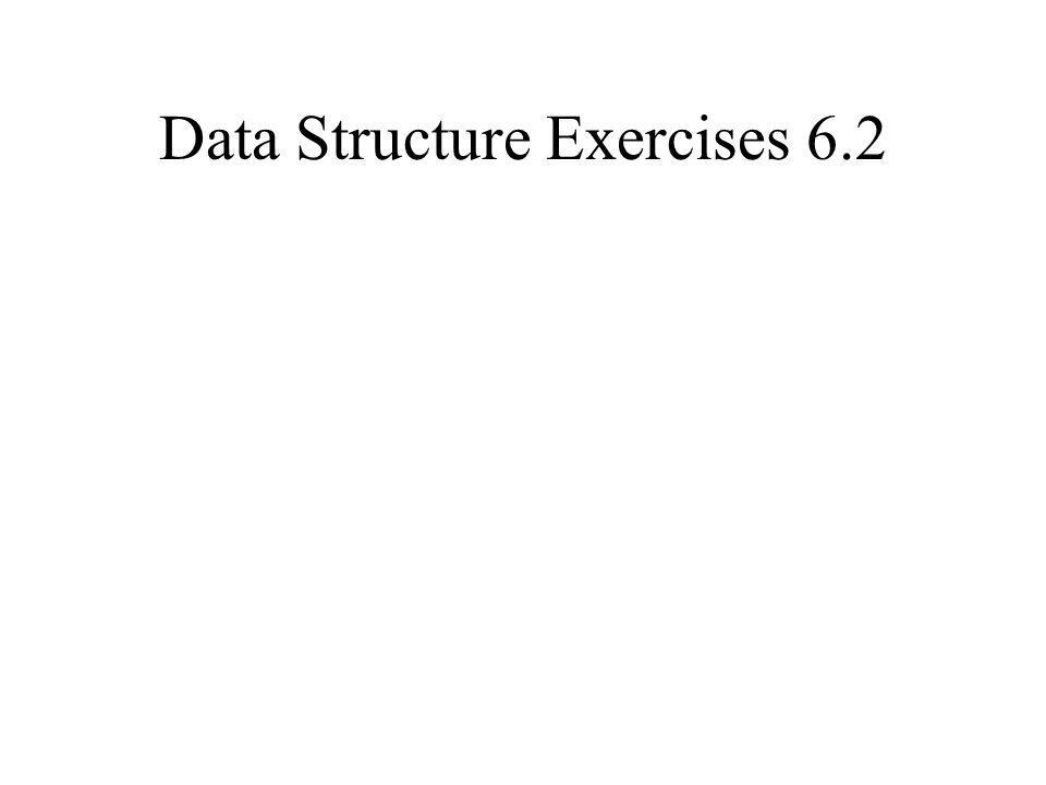 Data Structure Exercises 6.2