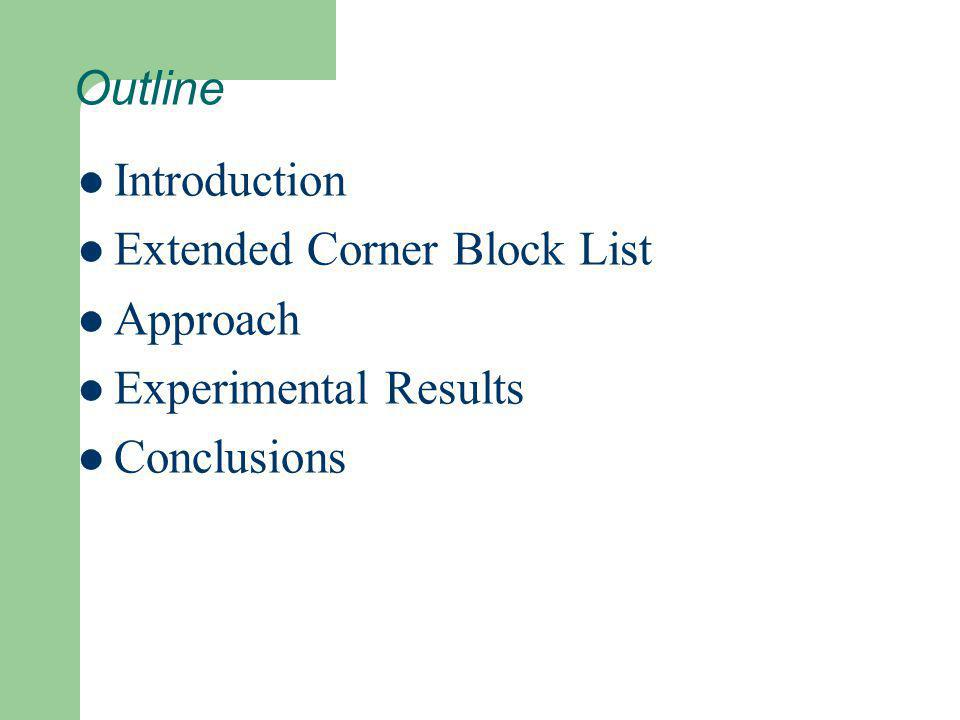 Outline Introduction Extended Corner Block List Approach Experimental Results Conclusions