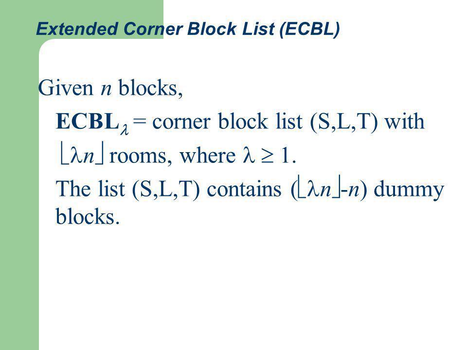 ECBL Complexity of transformation: O( n) ECBL n covers BSG n n #ECBL =