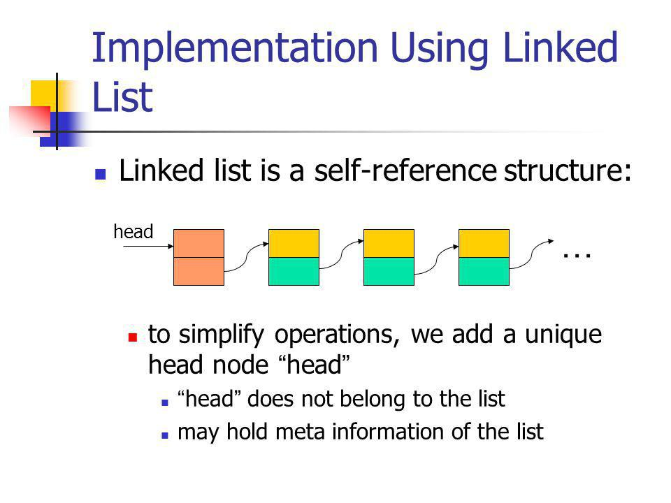 Operation: insert // continued… // Step #1: cook list node: list temp = (list)malloc (sizeof (*temp)); temp->data = x; // Step #2: temp points to n-th data item temp->next = p->next; // Step #3: link temp onto list p->next = temp; return; }