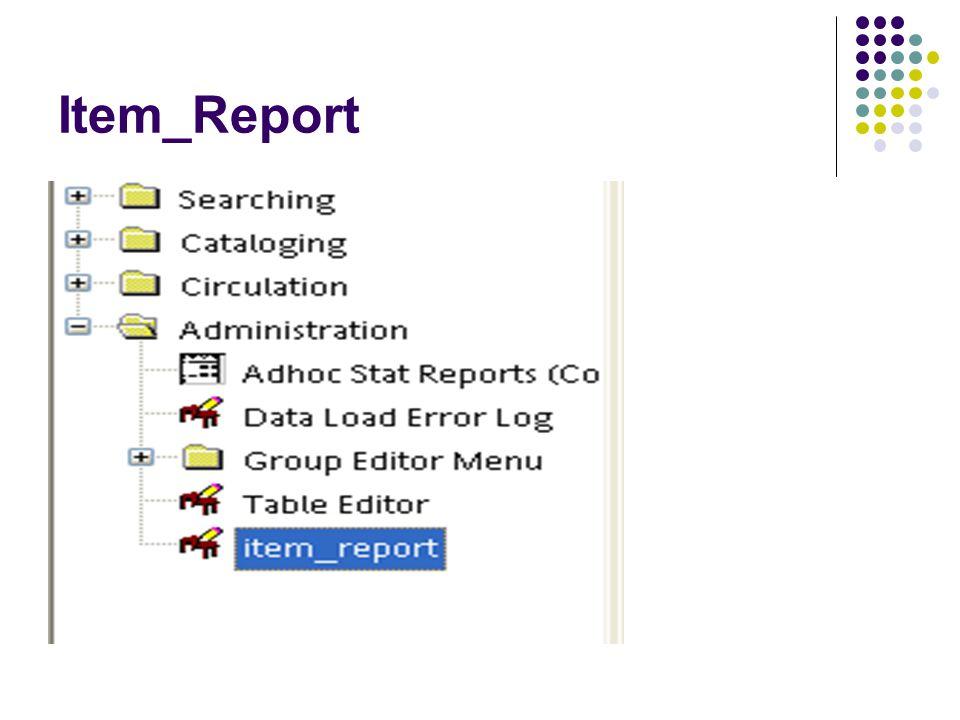 Item_Report