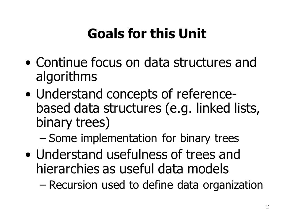 3 Taxonomy of Data Structures From the text: –Data type: collection of values and operations Compare to Abstract Data Type.