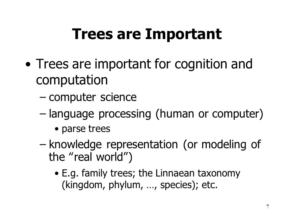 8 Another Tree Example: File System What about file links (Unix) or shortcuts (Windows).