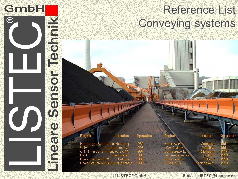 © LISTEC ® GmbH   Reference List Further Tunnels