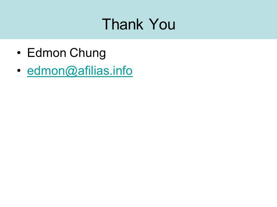 Thank You Edmon Chung edmon@afilias.info