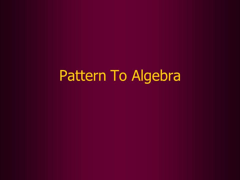 Pattern To Algebra