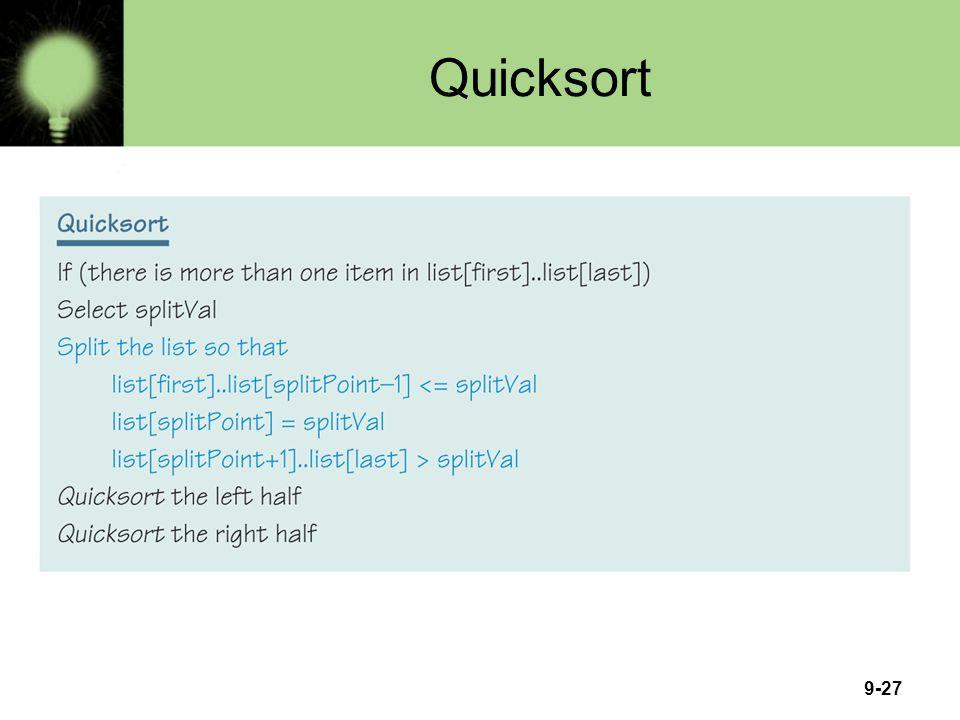 9-27 Quicksort