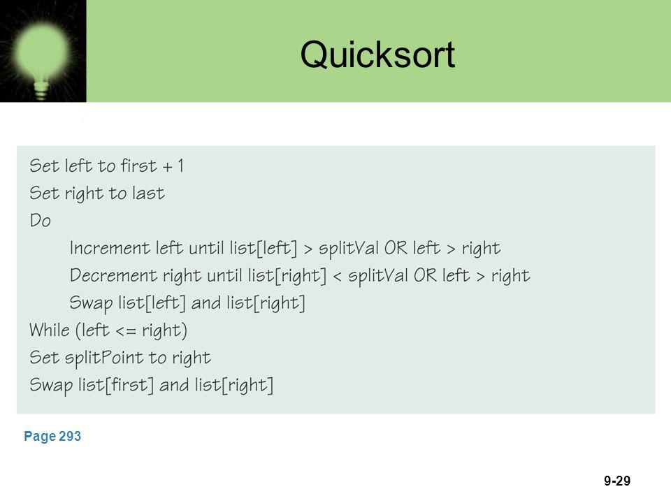 9-29 Quicksort Page 293
