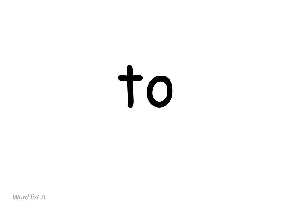 it Word list A