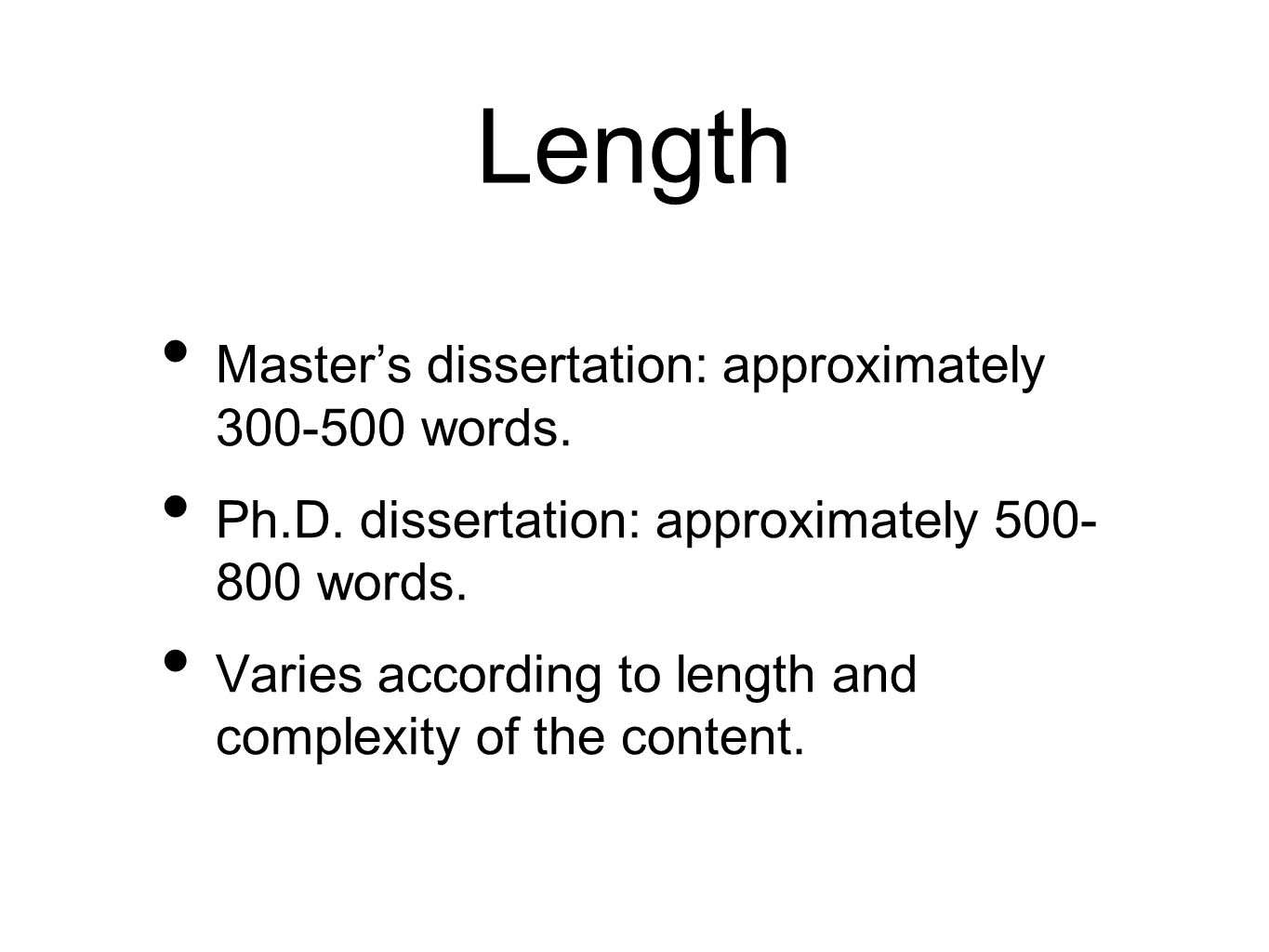 format for writing a masters thesis