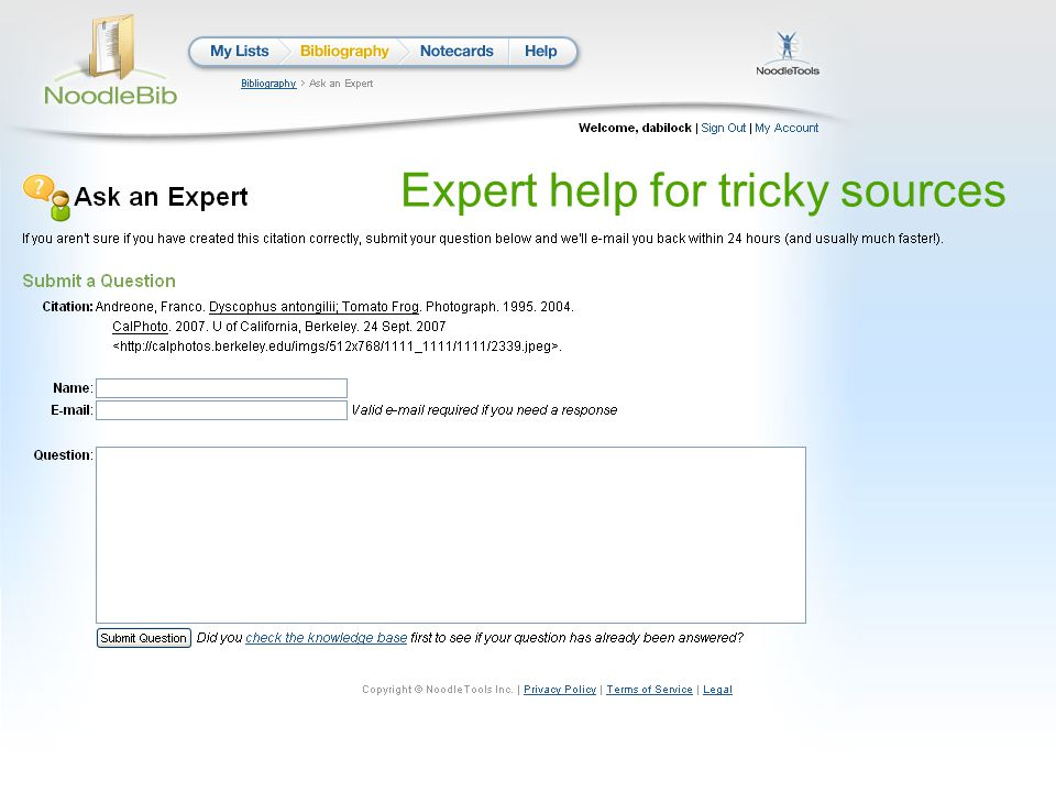 Expert help for tricky sources