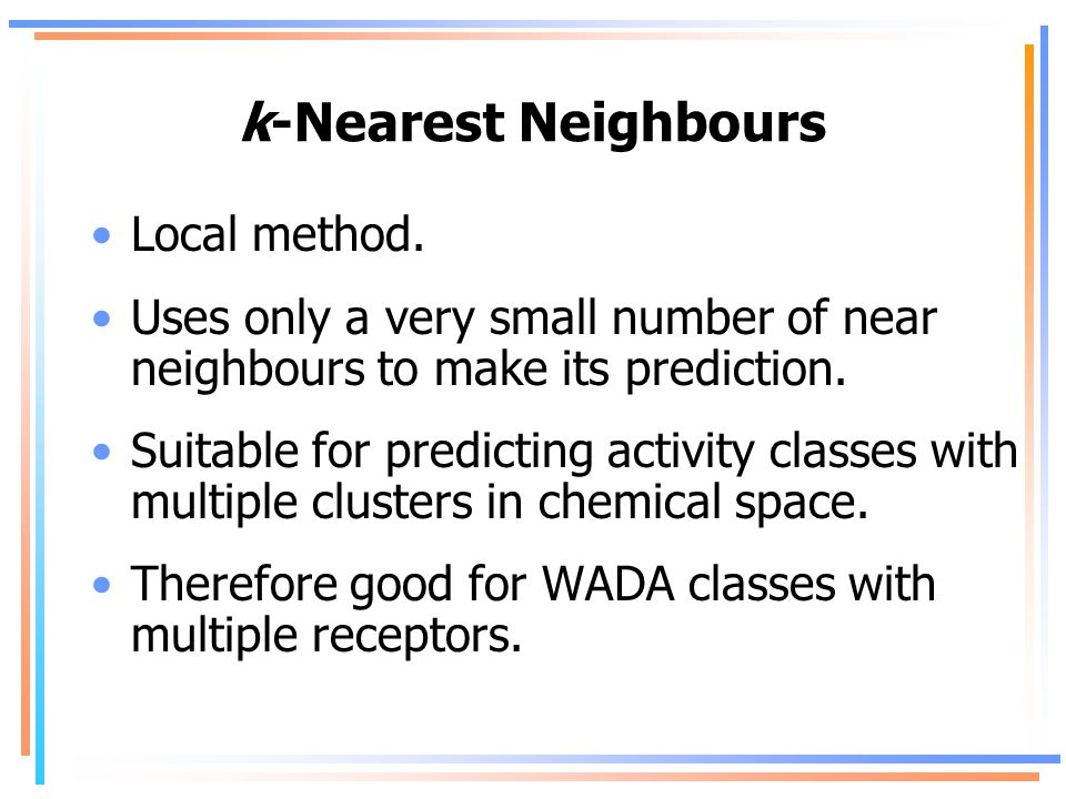 k-Nearest Neighbours Local method.