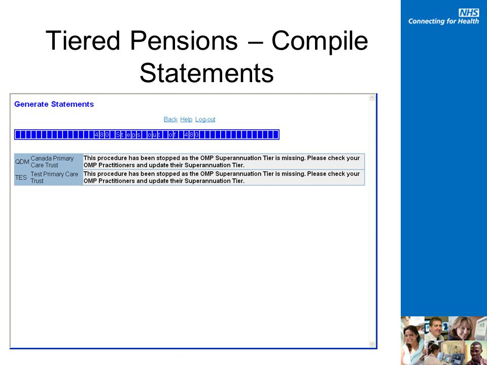 Tiered Pensions – Compile Statements