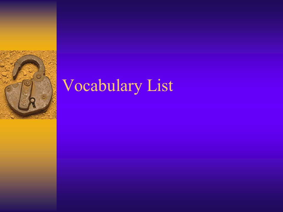 S.S.Vocabulary List Christianity: a monotheistic religion based on the teachings of Jesus Christ.