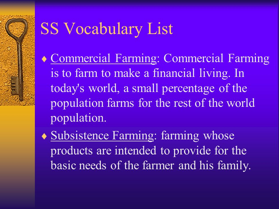S.S.Vocabulary List Balance of Trade: The total value of all imports and exports.
