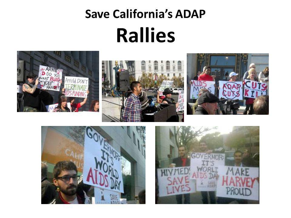 Save Californias ADAP Rallies