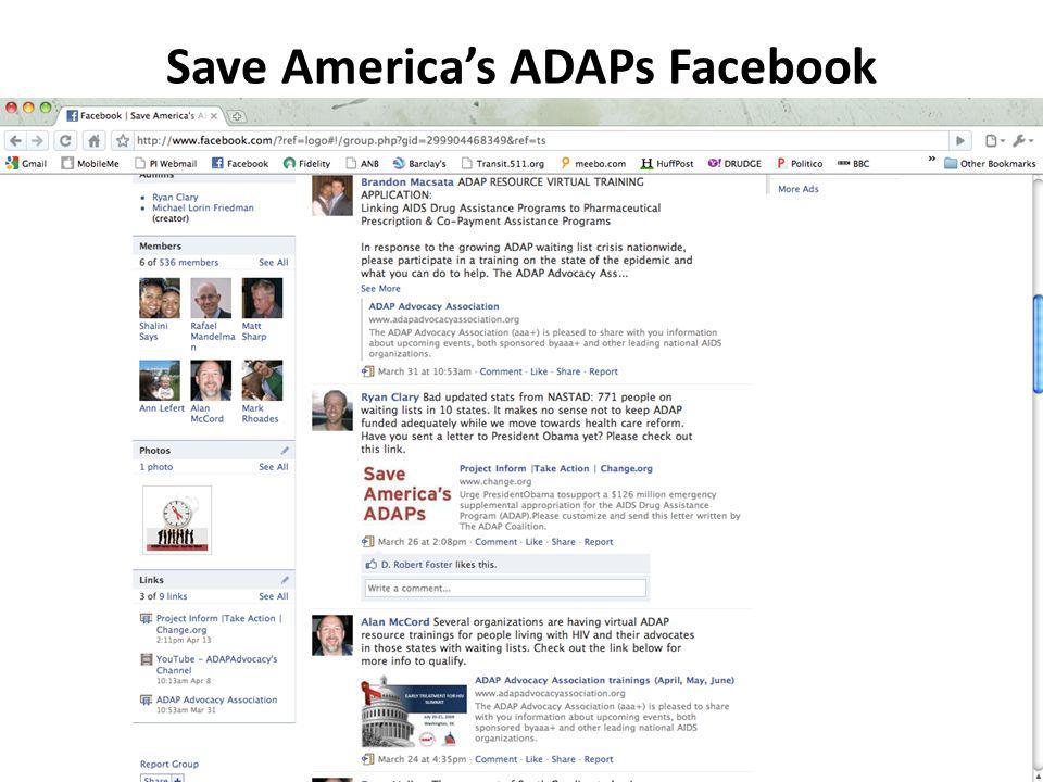 Save Americas ADAPs Facebook