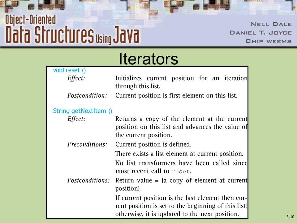 3-10 Iterators