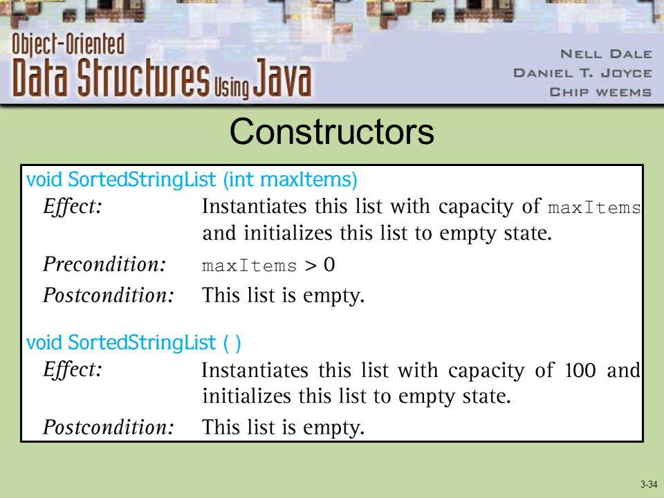 3-34 Constructors