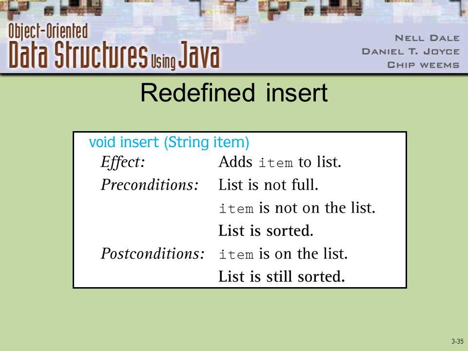 3-35 Redefined insert