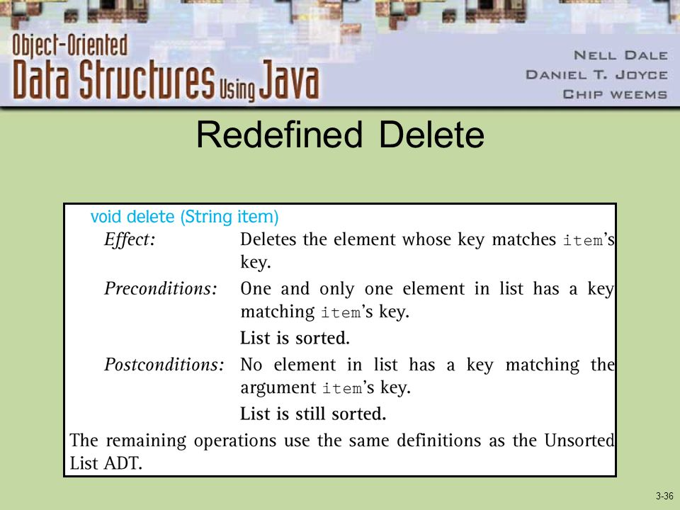 3-36 Redefined Delete
