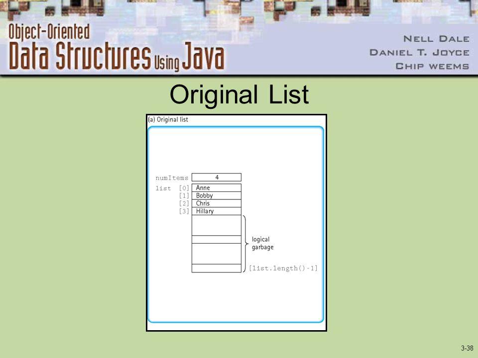 3-38 Original List