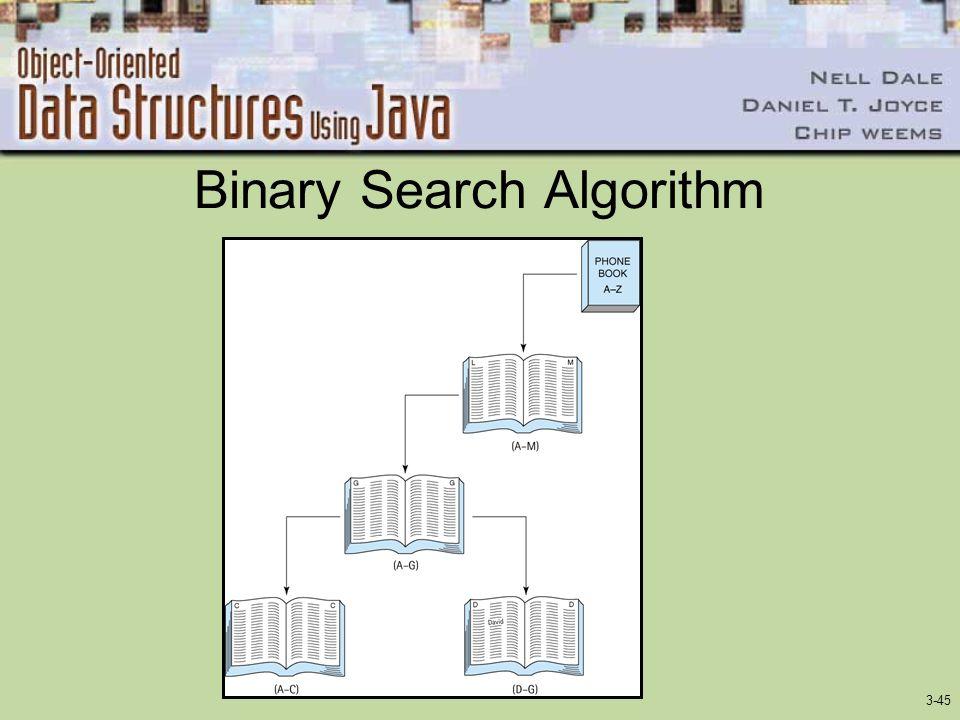 3-45 Binary Search Algorithm