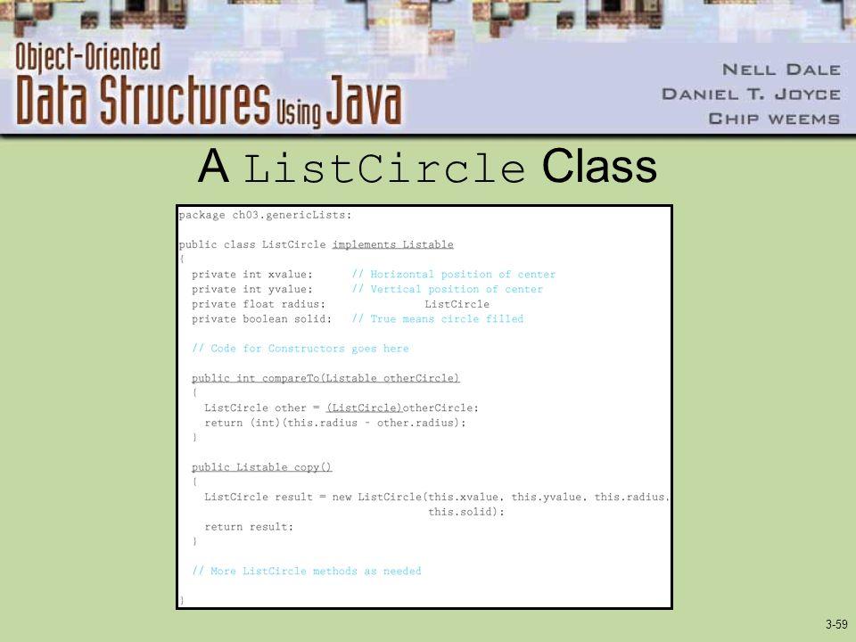 3-59 A ListCircle Class