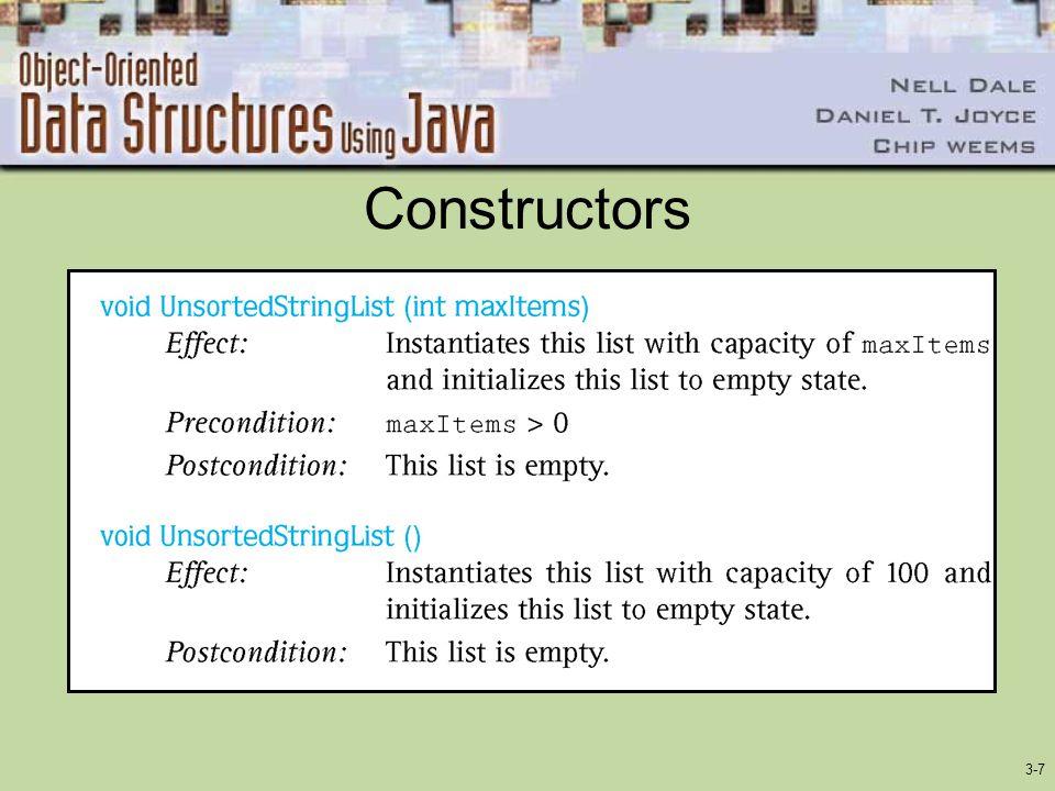 3-7 Constructors