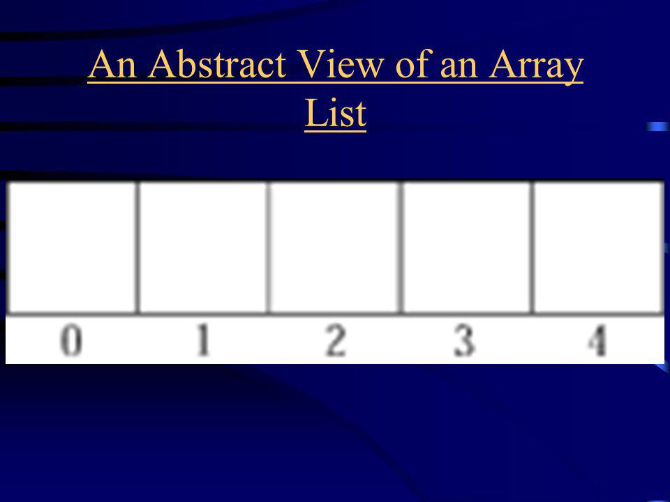An Abstract View of an Array List
