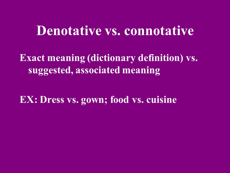 Objective vs.subjective Unbiased and unemotional vs.