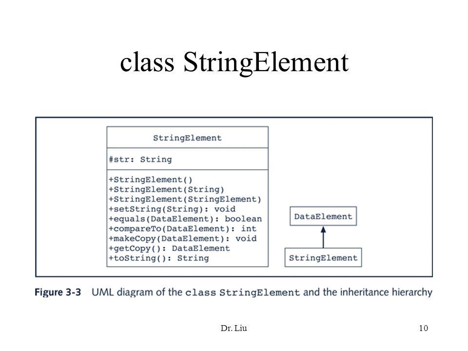 Dr. Liu10 class StringElement