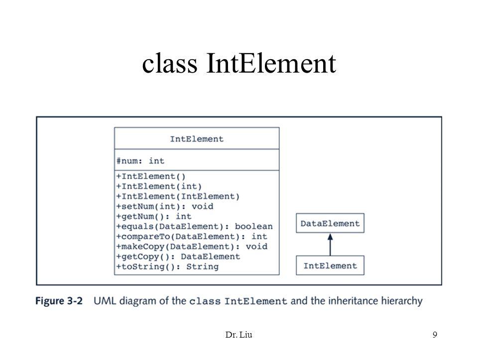 Dr. Liu9 class IntElement