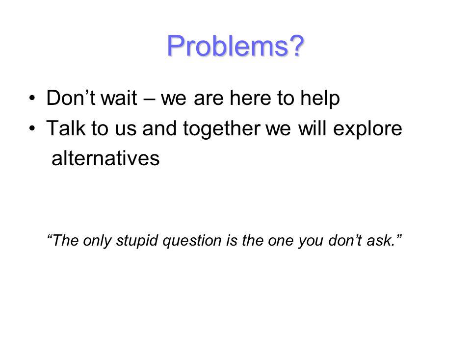 Problems.