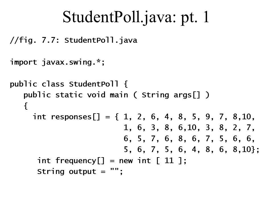 StudentPoll.java: pt. 1 //fig.