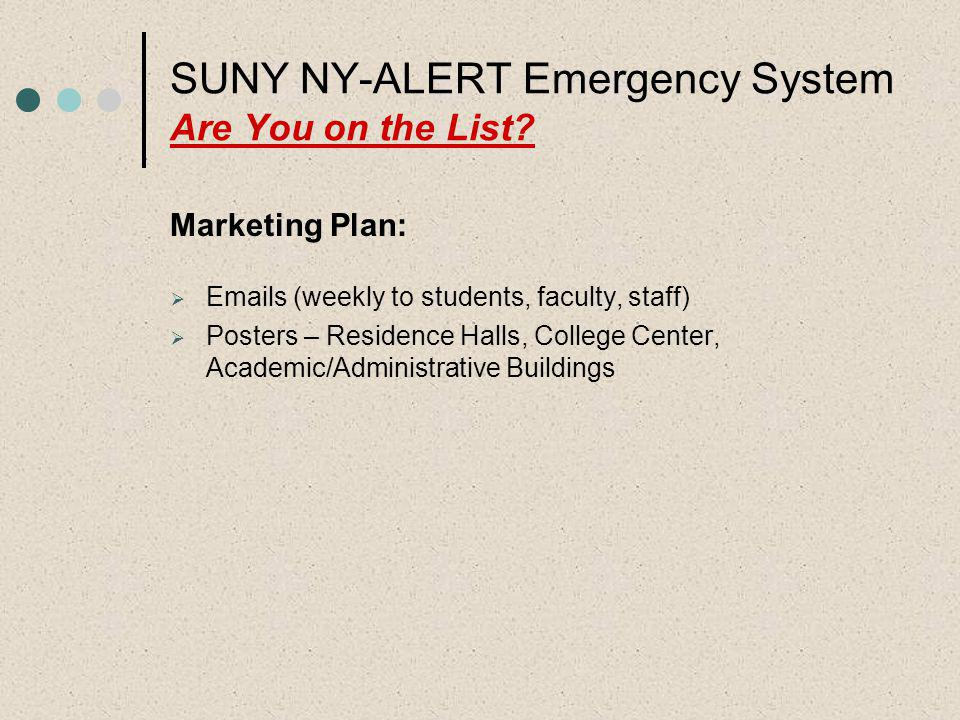 SUNY NY-ALERT Emergency System Are You on the List?
