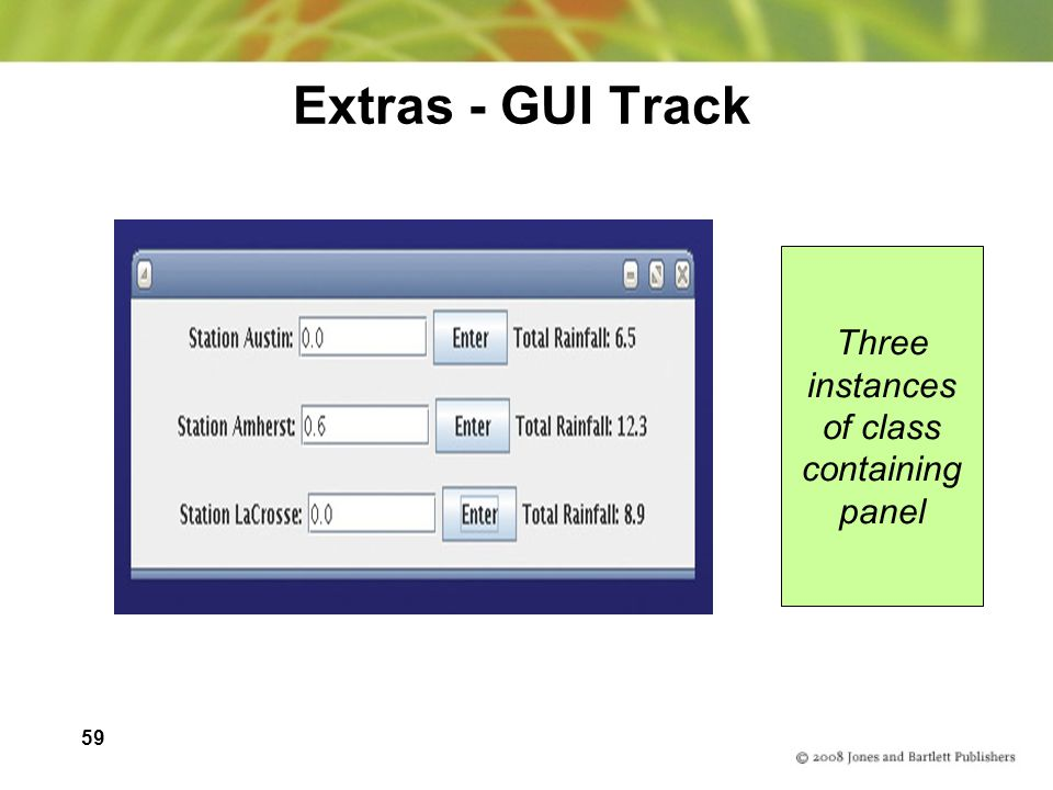 59 Extras - GUI Track Three instances of class containing panel